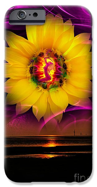 Interior Scene Mixed Media iPhone Cases - Very beautiful  sunrise iPhone Case by Walter Zettl