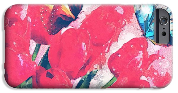 Catherine White Digital iPhone Cases - Very Fairy Tale In The Mix iPhone Case by Catherine Lott