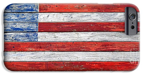 Old Glory iPhone Cases - Very Old Glory iPhone Case by Olivier Le Queinec