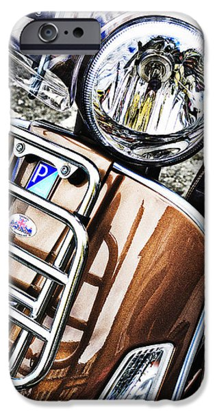 Scoot iPhone Cases - Vespa Piaggio  iPhone Case by Bernard Webb