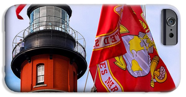 4th July iPhone Cases - Veterans Memorial Ponce De Leon Inlet Lighthouse iPhone Case by Rene Triay Photography