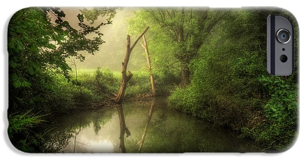 Creek iPhone Cases - Veterans of Ancient Storms iPhone Case by William Fields
