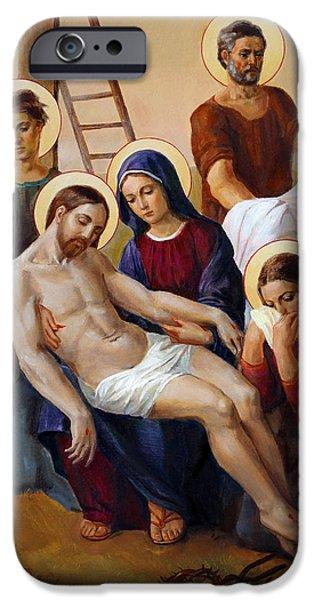 Miracle iPhone Cases - Via Dolorosa - Pieta - Via Crucis - 13 iPhone Case by Svitozar Nenyuk