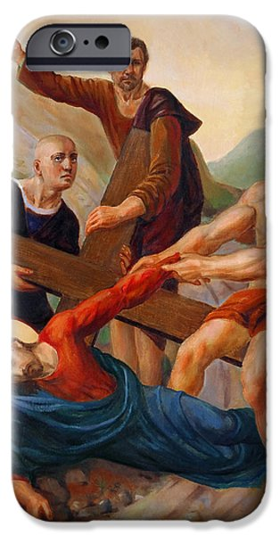 Roman Catholic iPhone Cases - Via Dolorosa - Way Of The Cross - 9 iPhone Case by Svitozar Nenyuk