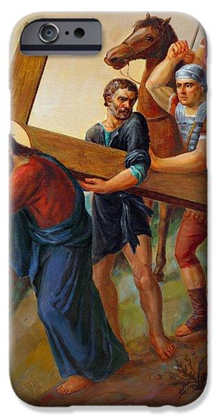 Pope iPhone Cases - Via Dolorosa - Way Of The Cross - 5 iPhone Case by Svitozar Nenyuk