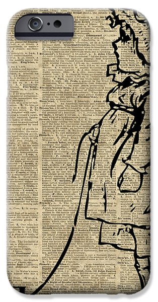 Diy iPhone Cases - Victorian Child on a Dictionary Page iPhone Case by Jacob Kuch