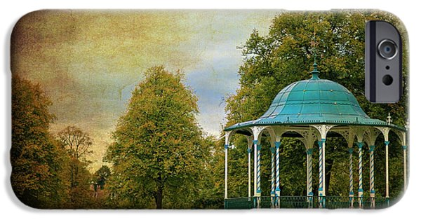 Bandstand iPhone Cases - Victorian Entertainment iPhone Case by Meirion Matthias