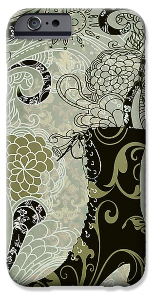 Boots iPhone Cases - Victorian Ladys Boot iPhone Case by Mindy Sommers