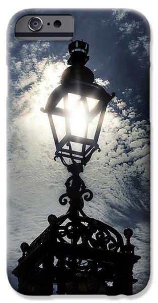 Lamp iPhone Cases - Victorian lamp post iPhone Case by Joana Kruse