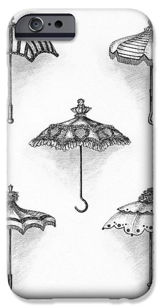 Victorian Parasols iPhone Case by Adam Zebediah Joseph