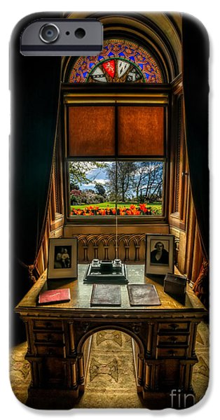 Furniture iPhone Cases - Victorian Spring View iPhone Case by Adrian Evans