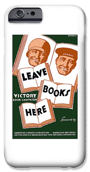 One Mixed Media iPhone Cases - Victory Book Campaign - WPA iPhone Case by War Is Hell Store