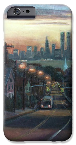 Victory Boulevard at Dawn iPhone Case by Sarah Yuster