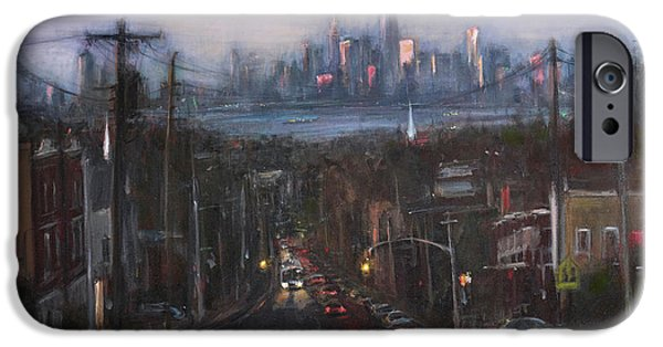 Twin Towers Nyc iPhone Cases - Victory Boulevard at Dusk iPhone Case by Sarah Yuster