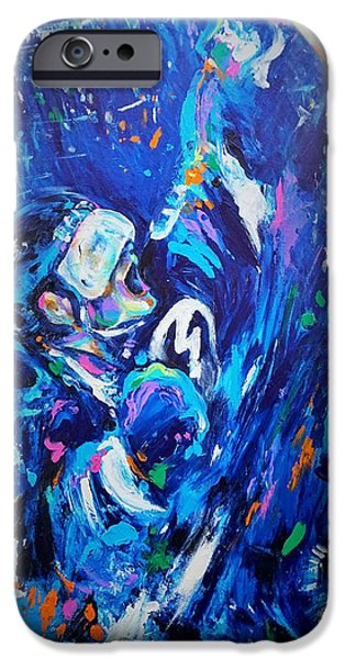 Hockey Paintings iPhone Cases - Victory iPhone Case by Dena Lowery