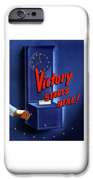 War iPhone Cases - Victory Starts Here iPhone Case by War Is Hell Store