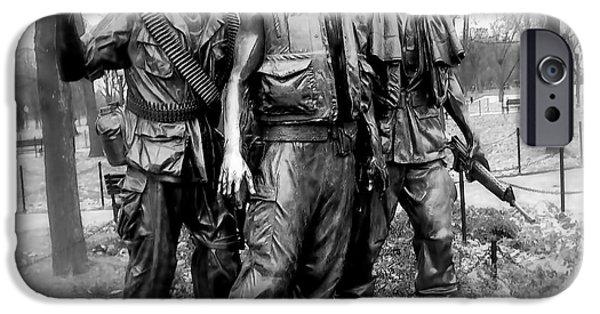D.c. iPhone Cases - Viet Nam Memorial Washington D C iPhone Case by Jake Steele