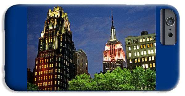 Empire State iPhone Cases - Empire State Building from 42nd iPhone Case by Christopher Woods