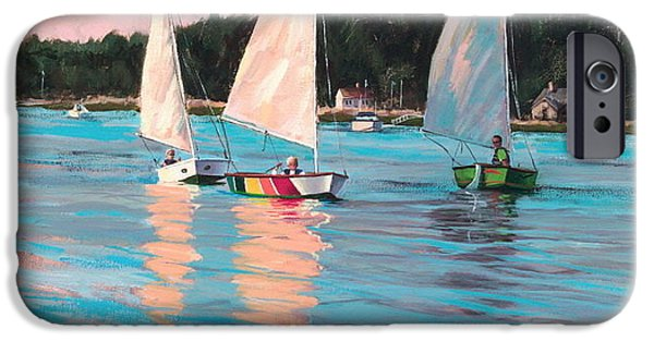 Sailboat Ocean iPhone Cases - View From Richs Boat iPhone Case by Laura Lee Zanghetti