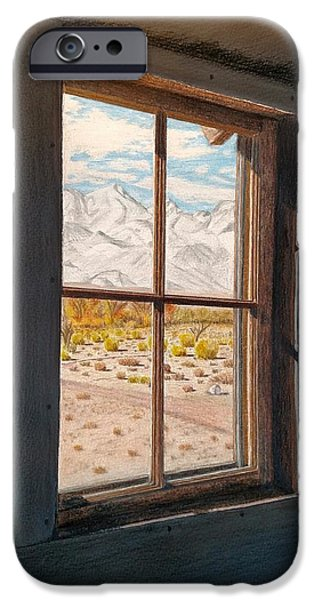 Historic Site Mixed Media iPhone Cases - View from the barracks iPhone Case by Joy Lavery