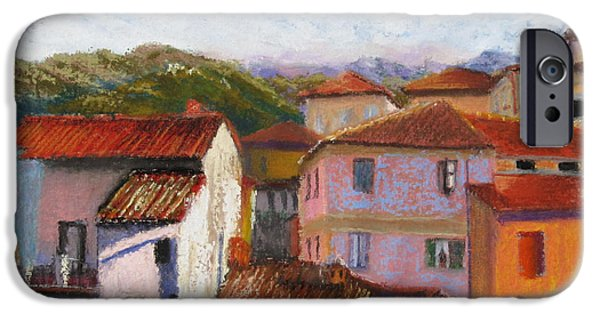 Village Pastels iPhone Cases - View From the Big Room iPhone Case by Leah Wiedemer