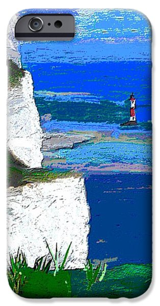 Lighthouse iPhone Cases - View from the Cliff Edge iPhone Case by Karen Harding