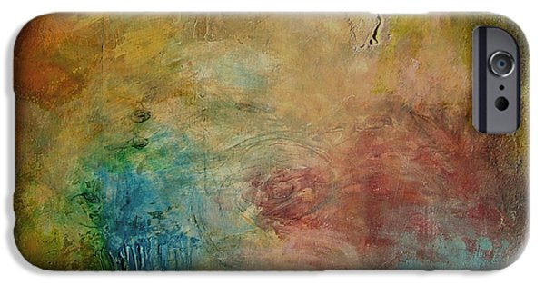 Abstract Expressionism iPhone Cases - View From the Old Railroad Bridge iPhone Case by Martha Marshall