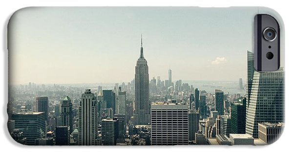 Empire State iPhone Cases - View From The Rainbow Room iPhone Case by Christy Gendalia
