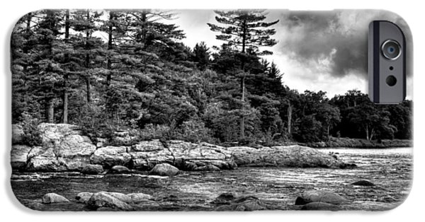 Summer iPhone Cases - View from the Rocks of the Moose iPhone Case by David Patterson