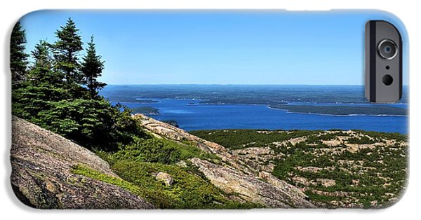Maine iPhone Cases - View From the Top 2 iPhone Case by John Trommer