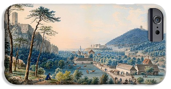Town iPhone Cases - View of Castle Weilburg - Lower Austria iPhone Case by Johann Raulino