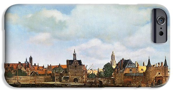 River View Paintings iPhone Cases - View of Delft iPhone Case by Jan Vermeer
