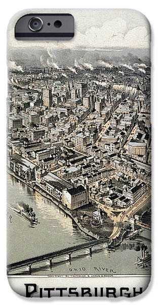 VIEW OF PITTSBURGH, 1902 iPhone Case by Granger