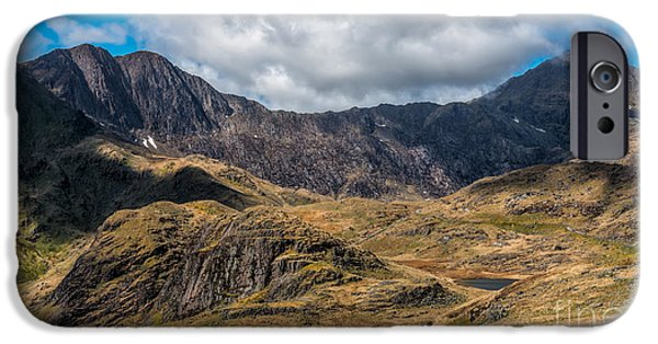 Snow iPhone Cases - View of Snowdon iPhone Case by Adrian Evans