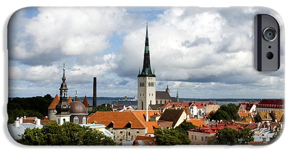 Estonia Photographs iPhone Cases - View of St Olavs Church iPhone Case by Fabrizio Troiani