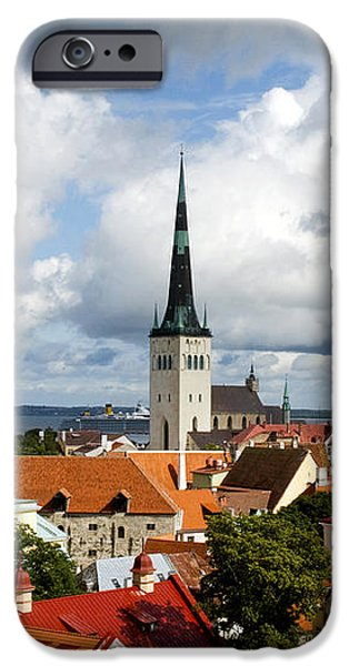View of St Olav's Church iPhone Case by Fabrizio Troiani