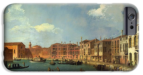 Venetian Canals iPhone Cases - View of the Canal of Santa Chiara iPhone Case by Canaletto