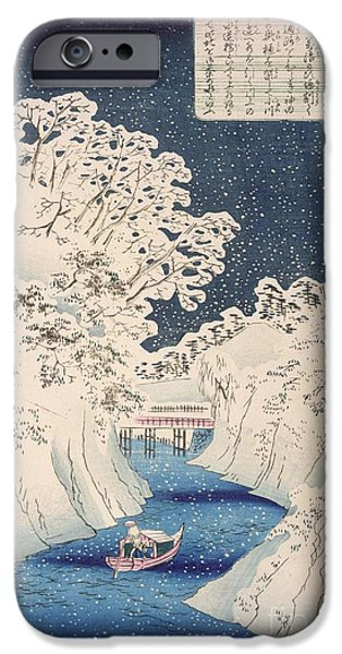 Japanese School iPhone Cases - Views of Edo iPhone Case by Hiroshige