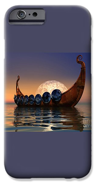 Viking Boat iPhone Case by Corey Ford