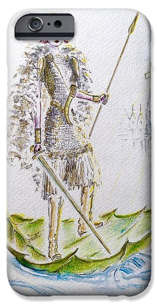 Vikings Paintings iPhone Cases - Viking Princess iPhone Case by Barbara Chase