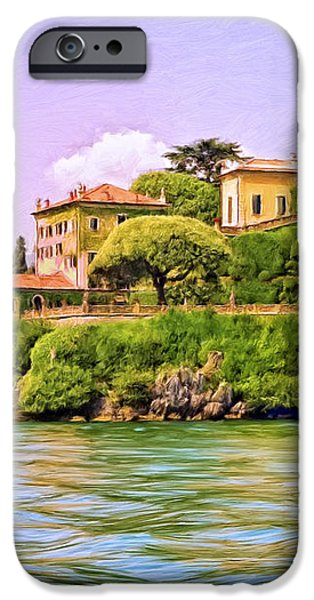 Villa on Lake Como iPhone Case by Dominic Piperata