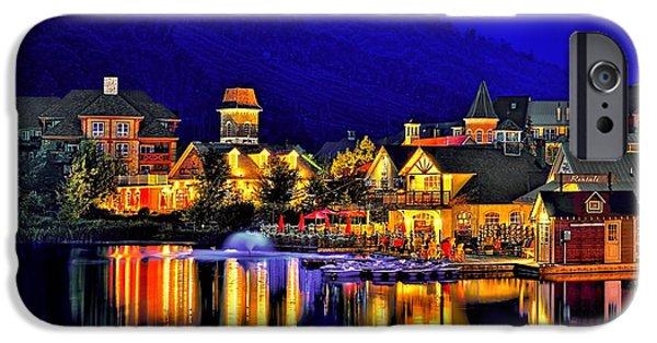 Beauty Mark iPhone Cases - Village at Blue Hour iPhone Case by Jeff S PhotoArt