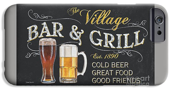 Pitcher iPhone Cases - Village Bar and Grill iPhone Case by Debbie DeWitt
