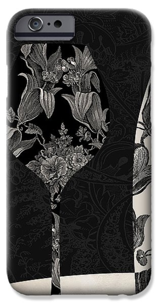 Table Wine iPhone Cases - Vin Elegant iPhone Case by Mindy Sommers
