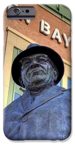 Vince iPhone Cases - Vince Lombardi iPhone Case by Joel Witmeyer