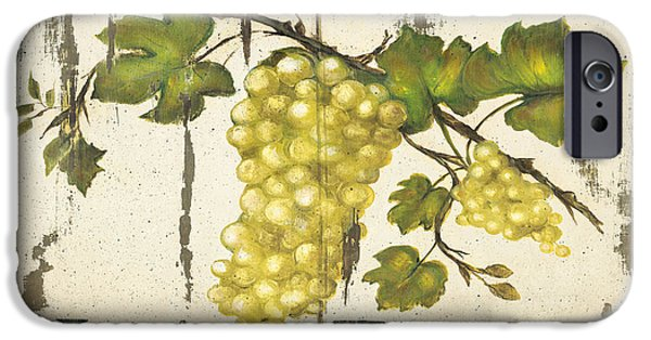 Wine Canvas Paintings iPhone Cases - Vineyard red wine sign iPhone Case by Grace Pullen