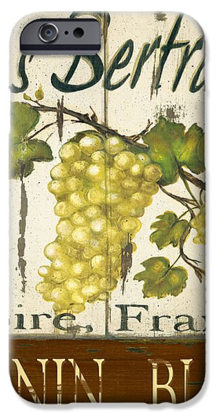 Vineyard red wine sign iPhone Case by Grace Pullen