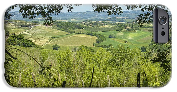 Chianti Landscape iPhone Cases - Vineyards in Tuscany landscape iPhone Case by Patricia Hofmeester