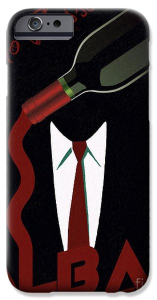 Vinos iPhone Cases - Vino Rosso  iPhone Case by Cinema Photography