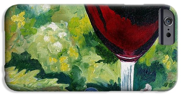 Table Wine iPhone Cases - Vino Rosso iPhone Case by Julie Brugh Riffey